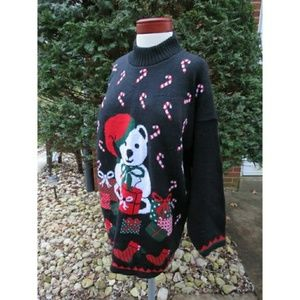 Sweaters - Teddy Bear Ugly Christmas Sweater Plus 2X Holiday